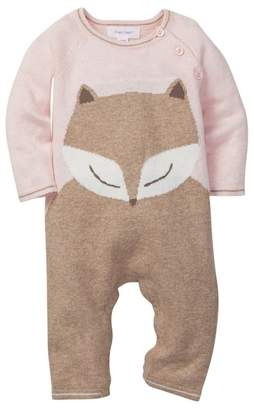 Angel Dear Pink Fox Intarsia Coverall (Baby Girls)