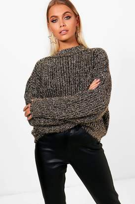 boohoo Tinsel Metallic Knit Jumper