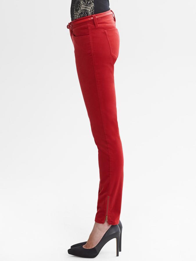 Banana Republic Heritage Velvet Skinny Ankle Zip Pant