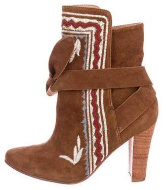 Ulla Johnson Aggie Embroidered Ankle Boots