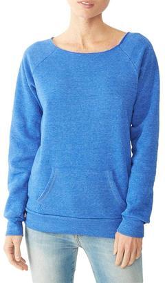 Alternative Apparel Off-Shoulder Sweatshirt $48 thestylecure.com