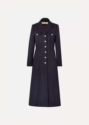 Burberry Wool Coat - Navy
