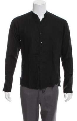 Greg Lauren Distressed Linen Shirt