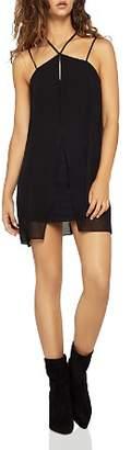 BCBGeneration Strappy Chiffon-Overlay Mini Dress