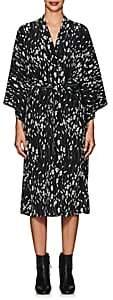 Nili Lotan Women's Rey Silk Wrap Dress - Black