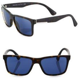 Prada 59MM Square Sunglasses $280 thestylecure.com