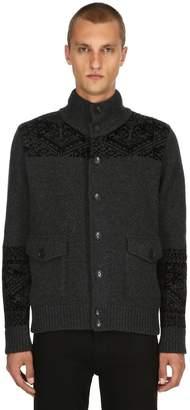 Etro Heavy Wool Jacquard Bomber Jacket