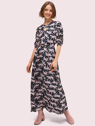 Kate Spade Panther Dot Midi Dress, Hot Springs - Size 0