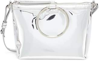 Kara Oversized ring mirror faux leather crossbody bag