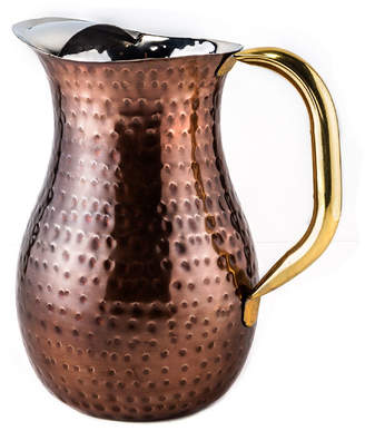 Old Dutch Dcor Antique Copper Hammered Water Pitcher 2.25 Qt