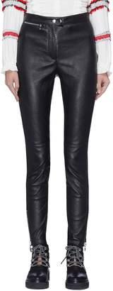 3.1 Phillip Lim Zip cuff leather leggings