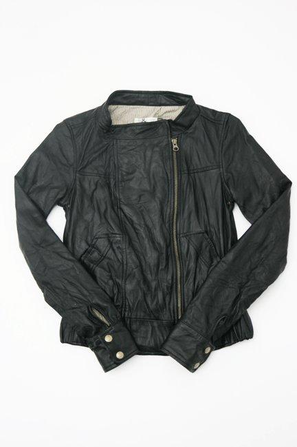 Mike & Chris Garth Lambskin Leather Motorcycle Jacket in Black