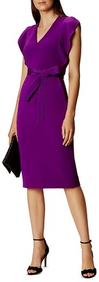 KAREN MILLEN Ruffled Sleeve Dress $399 thestylecure.com