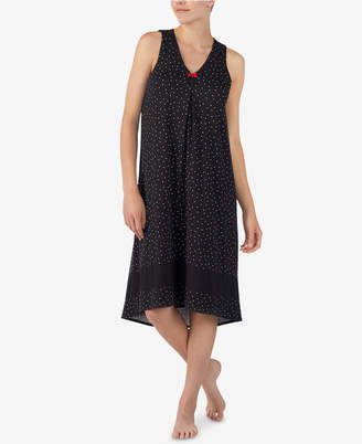 Ellen Tracy Printed Sleeveless Nightgown