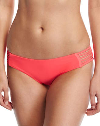 Vitamin A Jaydah Strappy Braided Swim Bikini Bottom, Orange