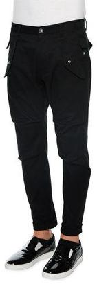 Dsquared2 Slim-Fit Cargo Pants, Black $750 thestylecure.com