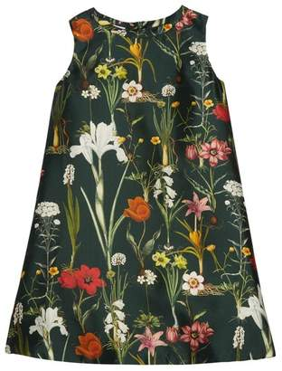 Oscar de la Renta Kids Flower Harvest Mikado A-Line Dress