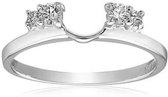 14k Gold Round Diamond Solitaire Engagement Ring Enhancer (1/5 carat