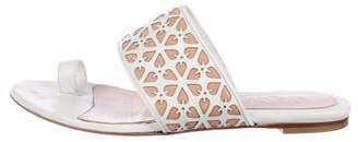 Alexander McQueen Laser Cut Slide Sandals