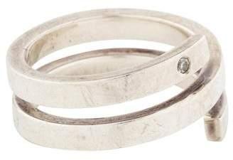 Jennifer Zeuner Jewelry Diamond Spiral Ring