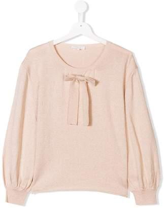 Chloé Kids TEEN metallic flecked knitted sweater