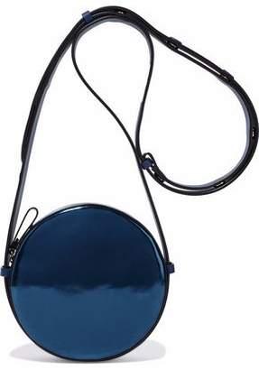 Diane von Furstenberg Smooth And Mirrored-Leather Shoulder Bag