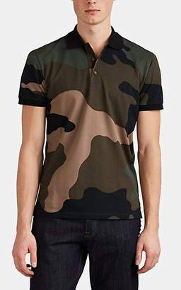 Valentino Men's Camouflage Cotton Piqué Polo Shirt - Olive