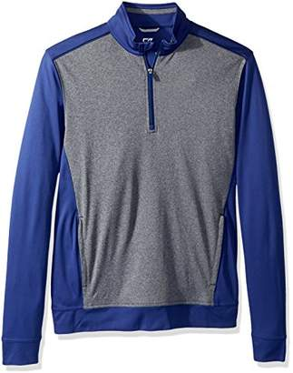 Cutter & Buck Men's Drytec 50+ UPF Replay Colorblock Zip Pullover with Pockets