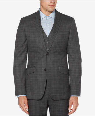 Perry Ellis Men Slim-Fit Washable Plaid Jacket