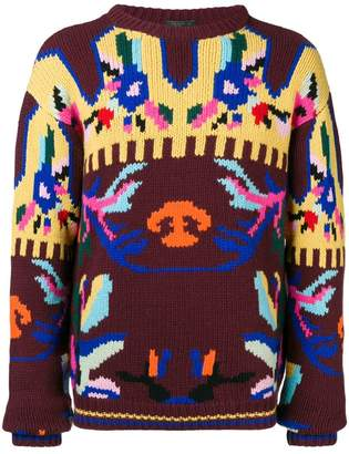 Prada intarsia knit sweater
