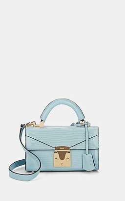 Stalvey Women's Top-Handle Mini Lizard Satchel - Powder Blue