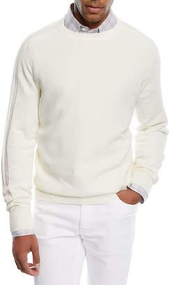 Brioni Cashmere-Blend Honeycomb Sweater