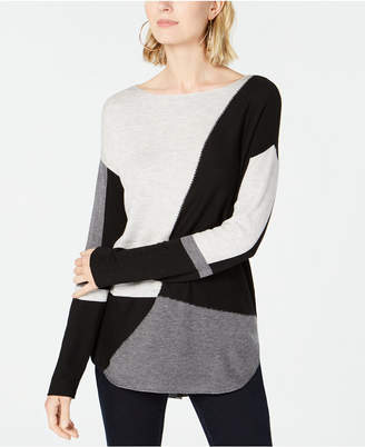 INC International Concepts I.n.c. Petite Colorblocked Sweater