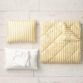 Pottery Barn Teen The Emily & Meritt Pirate Striped Comforter Bundle, Gold/Ivory, Twin/Twin XL, Gold/Ivory