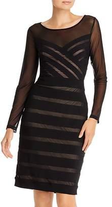Adrianna Papell Illusion Banded Sheath Dress
