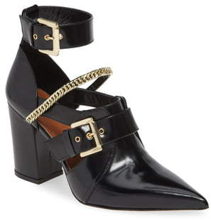 Self-Portrait Holly Buckled Cutout Bootie