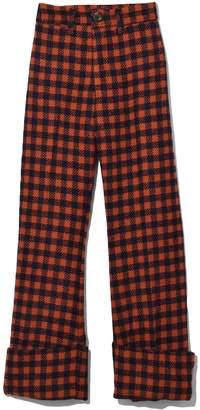 Sea Ethno Pop Classic Cuffed Pant in Orange Check