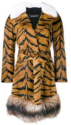 Simonetta Ravizza tiger print fur coat