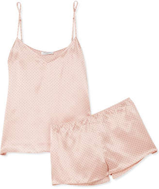 Equipment Alexy Polka-dot Silk-satin Pajama Set - Blush