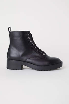 H&M Boots with Lacing - Black