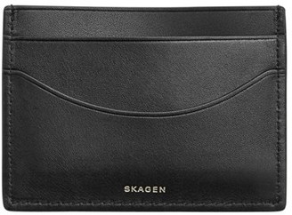 Men's Skagen 'Torben' Leather Card Case - Black $35 thestylecure.com