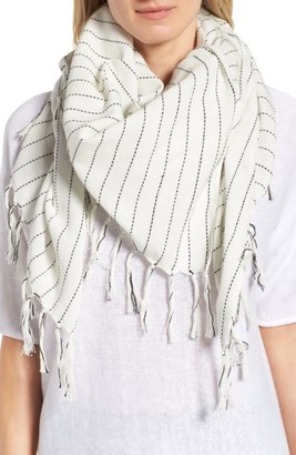 Women's Eileen Fisher Stripe Organic Cotton Scarf $88 thestylecure.com