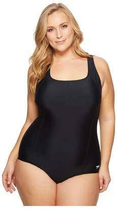 Speedo Plus Size Conservative Ultraback One Piece Women's Swimsuits One Piece