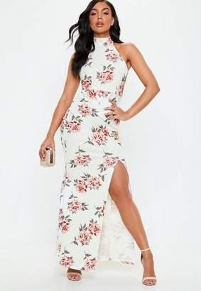 Missguided Floral Choker Maxi Dress