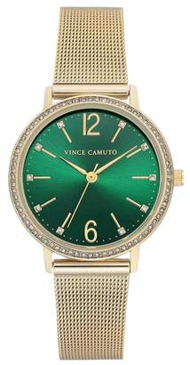 Vince Camuto Women's Green Mesh Bracelet Watch, 34mm
