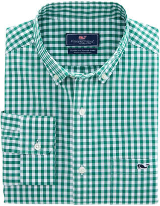 Vineyard Vines Carleton Gingham Classic Stretch Tucker Shirt