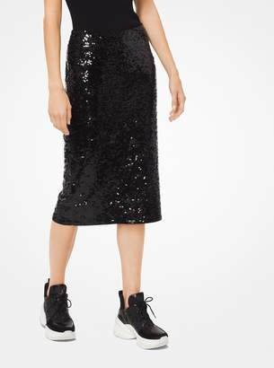 MICHAEL Michael Kors Sequined Jersey Pencil Skirt