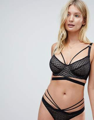 Asos Design FULLER BUST Gianna Diamond Lace Underwire Bra