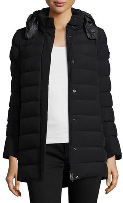 Peuterey Quilted Down Puffer Jacket, Nero $895 thestylecure.com