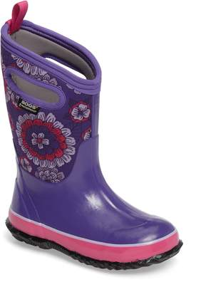 Bogs Classic Pansies Insulated Waterproof Rain Boot